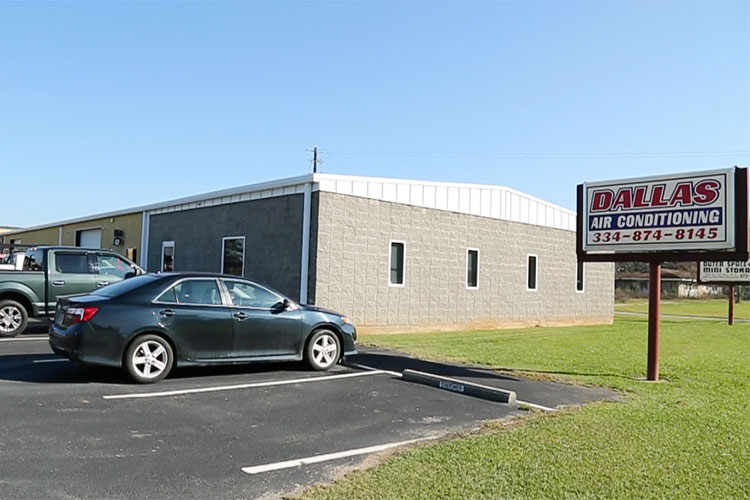Picture of Dallas AC building from the side.
